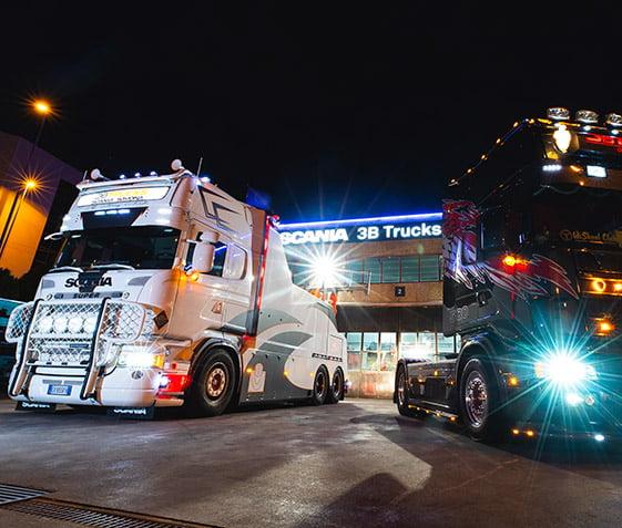 Officina autorizzata Scania Savona. Camion della 3B Trucks